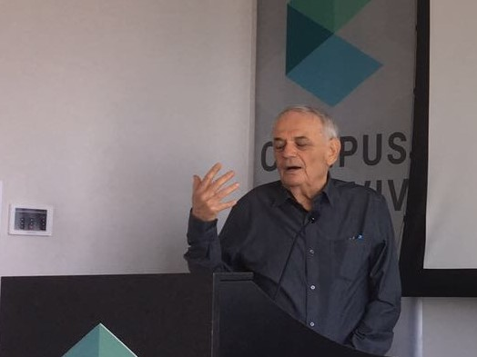 Dr. Shimon Eckhouse, presenting at the launch event